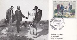 Carte Maximum FRANCE N°Yvert 1363 (COURBET) Obl Sp 1er Jour - 1960-69