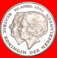 ★TWO QUEENS: NETHERLANDS ★ 1 GULDEN 1980! MINT LUSTER! LOW START★NO RESERVE! Beatrix (1980-2013) - [ 3] 1815-… : Kingdom Of The Netherlands
