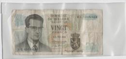 Belgique 20 Francs 1964 P138 Circulé - Belarus