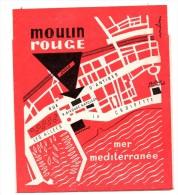 Petit Dépliant Moulin Rouge Cabaret Cannes Rue Bivouac Los Jorocas Strip Tease - Publicités