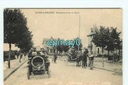 Br - 44 - NORD SUR ERDRE -  Boulevard De La Gare - Automobile Avec Petit Joseph  - RARE Et INCONNUE VISUEL - Nort Sur Erdre