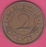 ILE MAURICE / MAURITIUS . 2 CENTS 1961. ELIZABETH II - Mauritius