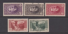 1937 - 1938    YVERT  Nº  152 / 156 - Great Lebanon (1924-1945)