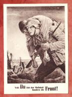 Propagandakarte: Nicht Du Bist Der Massstab! Sondern Die Front! Tag Der NSDAP Im Generalgouvernement 1943 (27371) - Guerre 1939-45