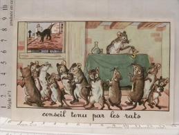 Image Chromo Illustrateur Calvet Rogniat - Fables De La Fontaine - Lot De 6 Images (chat, Belette, Souriceau...) - Chromos