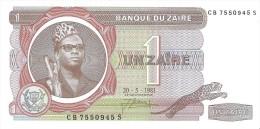 Zaire - Pick 19 - 1 Zaire 1981 - Unc - Zaire
