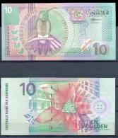 SURINAM SURINAME * 10 GULDEN * P 147 YEAR 2000 * UNCIRCULATED BANKNOTE - Suriname