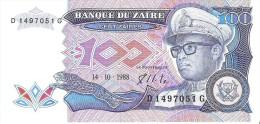 Zaire - Pick 33 - 100 Zaires 1988 - Unc - Zaire