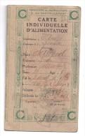 Ariège -  Carte D´ Alimentation SUCRE  1920 - Commune LESCOUSSE ( 2 Scans ) - Documents Historiques