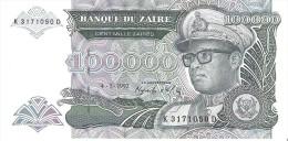 Zaire - Pick 41 - 100.000 Zaires 1992 - Unc - Zaire