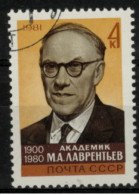 *B1* - Russia & URSS 1981- Anniversario  Della Morte Di M.A. Lawrentiev, Matematico -  1 Val. Oblit. -  Perfetto - 1923-1991 USSR