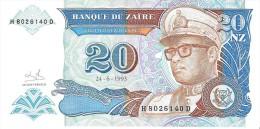 Zaire - Pick 56 - 20 Nouveaux Zaires 1993 - Unc - Zaire