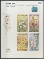 Laos 2000 Orchideen, BANGKOK 2000 Block 178 B Geschnitten Postfrisch (C10733) - Laos