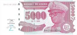 Zaire - Pick 69 - 5000 Nouveaux Zaires 1995 - Unc - Zaire