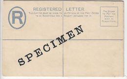 "Bahamas: QV Postal Stationery: 2d Registered, Overprinted ""SPECIMEN"", ""G"" Size - Bahamas (...-1973)"