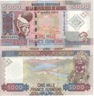Commemorative  Attractive GUINEA  5'000  Francs Guinees   2010    P44   UNC - Guinea
