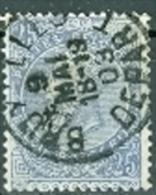 Belgien 1893 25 C. Gest. Leopold II. - 1893-1900 Schmaler Bart
