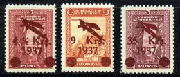 1937  Série De 3 Timbres De Poste Aérienne  **  Scott C6-8 MNH - 1921-... République