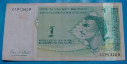BOSNIA & HERZEGOVINA 1 MARKA ND 1998 VF+. - Bosnie-Herzegovine