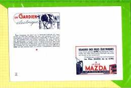 BUVARD & Blotting Paper : Piles MAZDA Le Gardien Electrique  Vache - Piles