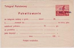 POLAND 1922 Telegram Fi Ct 11 Mint - Entiers Postaux
