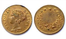 Jeton VICTORIA REGINA. Royaume-Uni. Bronze - Royaux/De Noblesse