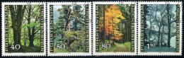 Liechtenstein - Michel 757 / 760 - OO Gestempelt (B) - Der Wald In Den Jahreszeiten - Usados