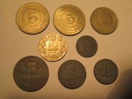YUGOSLAVIA 5 2 1 Dinara 50 Para 1945 5 2 Dinara FAO 1970 5 DINARA 1975 10 DINARA 1938 # 4 - Yugoslavia