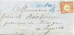 ALLEMAGNE EMPIRE LETTRE 1872 VERS STRASBOURG - Storia Postale