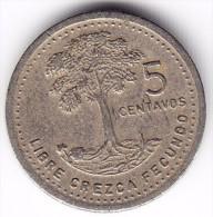 1987 Guatemala 5 Centavos Coin - Guatemala