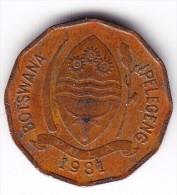 1981 Botswana 2 Thebe Coin - Botswana