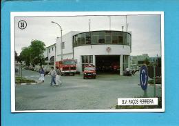 B. V. PAÇOS DE FERREIRA - Bombeiros Voluntários ( Quartel ) - 1992 Pocket Calendar N.º 38 - Portugal - Calendriers