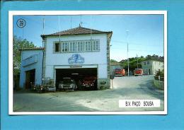B. V. PAÇO DE SOUSA - Bombeiros Voluntários ( Quartel ) - 1992 Pocket Calendar N.º 39 - Portugal - Calendriers