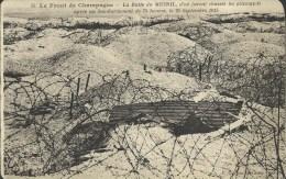 Le Front De Champagne - La Butte De Mesnil, D'où Furent Chassés Les Allemands Après Un Bombardement De 75h Le25-09-1915 - Guerre 1914-18