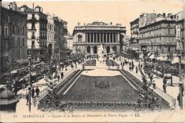 MARSEILLE - 13 - Square De La Bourse Et Monument De Pierre Puget - ENCH2011 -   - - Marseille
