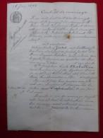 ALAIS CONTRAT DE MARIAGE JUSTET  CHABALLIER 1892 - Historical Documents