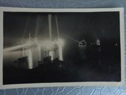 06 VILLEFRANCHE SUR MER CARTE PHOTO BIS  BATEAUX AMERICAINS EN RADE CLICHE NOCTURNE PHOTO PRISE DE NUIT ECLAIRAGE - Villefranche-sur-Mer