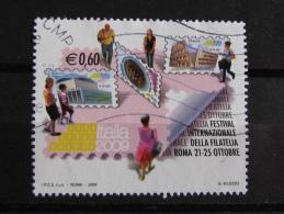 ITALIA USATI 2009 - FESTIVAL INTERNAZIONALE FILATELIA ITALIA 2009 - SASSONE 3074 - RIF. G 2063 - 1^ SCELTA - 6. 1946-.. Repubblica
