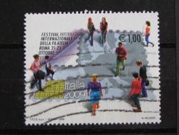 ITALIA USATI 2009 - FESTIVAL INTERNAZIONALE FILATELIA ITALIA 2009 - SASSONE 3075 - RIF. G 2064 - 1^ SCELTA - 6. 1946-.. Repubblica
