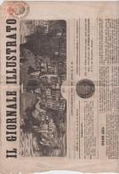 Giornale Intera Testata Affrancata Con Segnatasse Giornali Rosso - Lombardy-Venetia