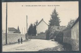 CPA 42 - Chazelles-sur-Lyon, Route De Chevrières - Francia