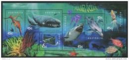 1998 - Australian PLANET OCEAN Minisheet Minature Sheet Stamps MNH - Blocks & Sheetlets