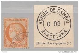 FRANCE  OBLITERATION ESPAGNOLE - 1870 Besetzung Von Paris