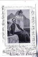 """SEIDENKARTE, In Seide Gewebt / Silk Woven / Carte De Soie / Silk Kaart, """"Frühlings Hoffen"""" - Ansichtskarten"""