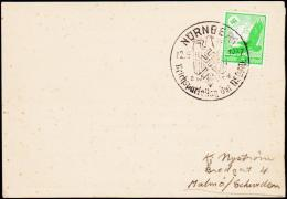 1937. 5 Pf. LUFTPOST NÜRNBERG Reichsparteitag 12.9.1937. (Michel: 529) - JF190308 - Airmail