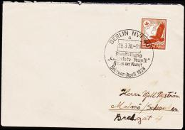1938. 25 Pf. Luftpost BERLIN 29.3.38 AUSSTELLUNG HAUS DER KUNST. (Michel: 533) - JF190312 - Airmail
