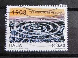 ITALIA USATI 2008 - TERREMOTO DI MESSINA - SASSONE 3069 - RIF. G 2071 - 1^ SCELTA - 6. 1946-.. Repubblica