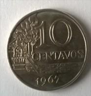 Brésil - 10 Centavos 1967 - - Brazil