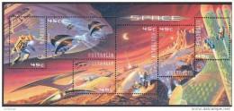 2000 - Australian SPACE Minisheet Minature Sheet Stamps MNH - Blocks & Sheetlets