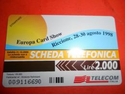 A2168 Scheda Telefonica Riccione Fiera Internazionale Del Francobollo - Tarjetas Telefónicas